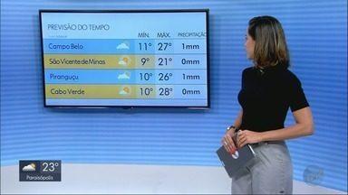 Confira a previsão do tempo para esta segunda-feira (2) no Sul de Minas - Confira a previsão do tempo para esta segunda-feira (2) no Sul de Minas