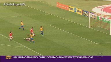 Inter empata e é desclassificado do Campeonato Brasileiro Feminino - Partida contra o Avaí Kindermann terminou empatada em 1 a 1.