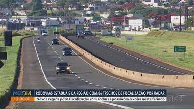 Rodovias estaduais na região de Londrina têm 86 trechos de fiscalização com radar - Pontos de fiscalização precisam ser indicados com antecedência na internet.