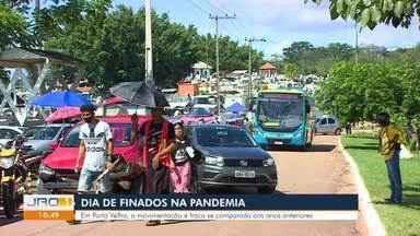 Dia de Finados durante a pandemia - Movimentação é tranquila em Porto Velho, mas em Ji-Paraná muita aglomeração. Em Jaru, uso de máscara foi deixado de lado pela população.