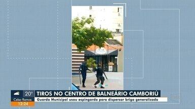 Guarda Municipal faz disparos de tiros em Balneário Camboriú para dispersar briga - Guarda Municipal faz disparos de tiros em Balneário Camboriú para dispersar briga