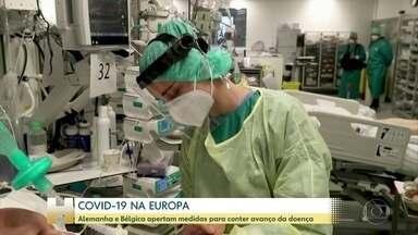 COVID-19 se espalha novamente pela Europa - Alemanha e Bélgica apertam medidas para conter avanço da doença. Britânicos também estão em lockdown.