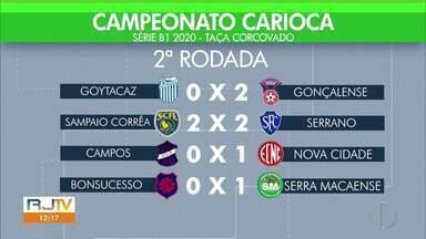 Confira os gols da Série B1 do Carioca - Goytacaz sofreu a segunda derrota na Taça Corcovado.
