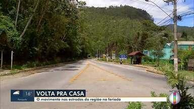 RJ1 faz um giro pelas estradas, neste feriado - Movimento de volta pra casa deve ser intenso pelo interior do Rio.