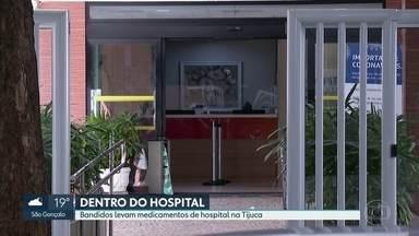 Bandidos roubam medicamentos de hospital - Direção do hospital Panamericano disse que não houve feriso. Para a polícia remédios podem ter sido roubados para abastecer enfermarias do tráfico
