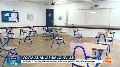 Em Joinville, mais de 6 mil estudantes devem voltar às escolas da rede municipal - Em Joinville, mais de 6 mil estudantes devem voltar às escolas da rede municipal