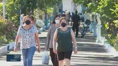 Dia de Finados: Visitantes respeitam protocolos de segurança com máscaras e álcool gel - Milhares foram aos cemitérios homenagear entes queridos.