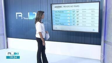 Terça-feira vai ser de sol entre nuvens na região - Veja como fica a previsão do tempo em cinco cidades.