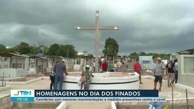 Cemitérios registram movimentação mais leve no dia dos finados em Santarém e região - Medidas preventivas foram aplicadas para evitar contaminação da Covid-19.
