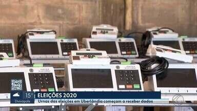 Urnas eletrônicas que serão utilizadas em Uberlândia e Uberaba são preparadas pela Justiça - Equipamentos recebem informações dos candidatos e eleitores de Uberlândia. Em Uberaba, aparelhos utilizados na cidade e na região são testados.