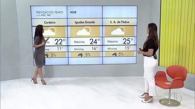 Veja a previsão do tempo para as cidades do interior do Rio - Confira as temperaturas dos municípios para esta quarta-feira (03).