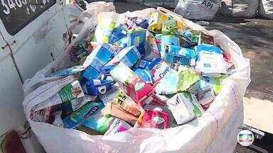 Lixo é problema grave e desafio para quem vencer a eleição em BH - A gestão dos resíduos é um dos problemas que vão ser enfrentados pelo prefeito de Belo Horizonte a partir do ano que vem. Percentual de reciclado ainda é pequeno na capital.