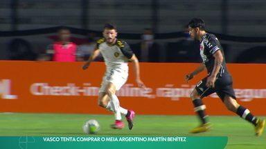 Vasco tenta comprar o meia argentino Martín Benítez - Vasco tenta comprar o meia argentino Martín Benítez