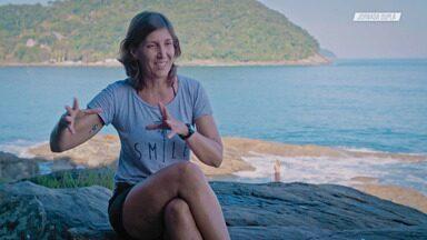 Roberta Borsari - Roberta Borsari divide seu tempo entre o emprego e a vida aventureira de kayaksurf. Ela foi a primeira mulher no mundo a surfar uma pororoca de caiaque e possui títulos em modalidades como rafting, canoa haviana e slalom