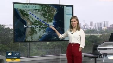 Confira a previsão do tempo desta segunda (9) - Semana será de chuva no Rio.