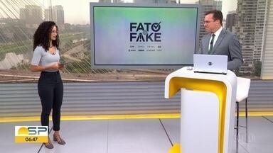 Veja o que é Fato e o que é Fake nas declarações dos candidatos à Prefeitura de São Paulo - G1 checa frases dos quatro candidatos mais bem colocados na última pesquisa de intenção de voto.