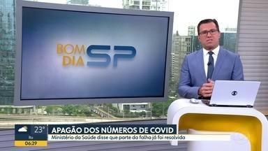 Pelo 4º dia seguido, Estado de SP não divulga números da Covid-19 - Um dos sistemas oficiais do Ministério da Saúde não está disponível.