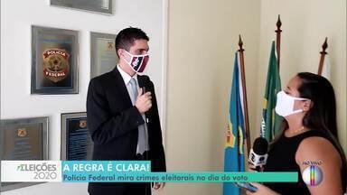 Polícia Federal vai intensificar a fiscalização no dia das eleições em Campos, no RJ - Além disso, a PF também vai colocar o efetivo nas ruas para impedir irregularidades, como a boca de urna.