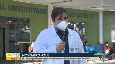 HU de Campina Grande realiza agendamento para mutirão em prol do novembro azul - Saiba como agendar