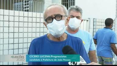 Cícero Lucena falou de suas propostas para a área de tecnologia - Candidato do PSDB percorreu algumas ruas da cidade em carro aberto.