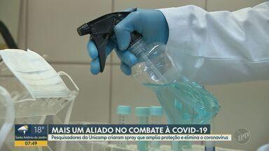 Pesquisadores da Unicamp criam spray que amplia proteção e elimina o coronavírus - Produto pode diminuir a quantidade de trocas de equipamentos de proteção, como máscaras.
