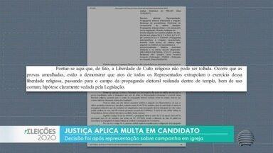 Justiça aplica multa em candidato a prefeito de Presidente Prudente - Decisão foi após representação sobre campanha em igreja.