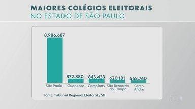 Maiores colégios eleitorais se preparam para o primeiro turno em São Paulo - Neste ano, a Polícia Federal deve usar drones na fiscalização. Eleitor pode denunciar irregularidades pelo aplicativo Pardal.
