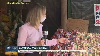 Preço da cesta básica chega a R$ 581,39 no mês de outubro em Porto Alegre - Veja como economizar na compra dos alimentos.
