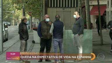 Covid-19 provoca queda na expectativa de vida na Espanha - Expectativa de vida é um dos principais indicadores de bem-estar e prosperidade de uma sociedade.