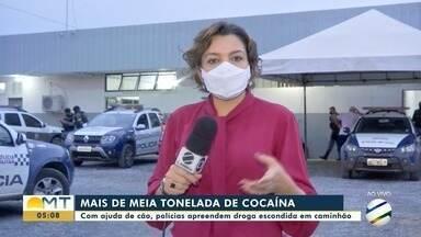 Gefron apreende mais de meia tonelada de cocaína em Rondonópolis - Gefron apreende mais de meia tonelada de cocaína em Rondonópolis
