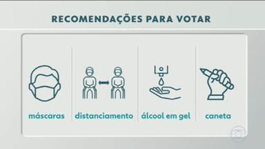 Eleições 2020: idosos terão horário preferencial para votar - No domingo (15), quem não estiver com máscara não vai poder votar.