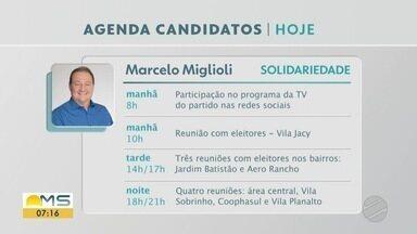 Confira a agenda dos candidatos a prefeito de Campo Grande nesta quinta-feira (12) - Confira a agenda dos candidatos a prefeito de Campo Grande nesta quinta-feira (12)