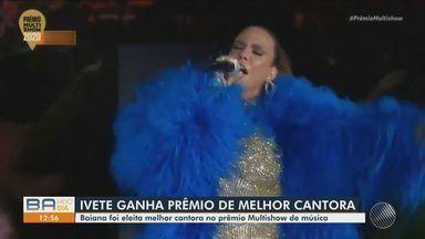 Ivete Sangalo faz apresentação histórica e ganha o prêmio Multishow de melhor cantora - A premiação aconteceu na noite de quarta (11).