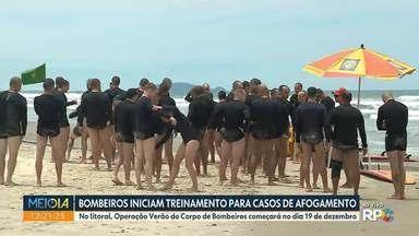 Bombeiros iniciam treinamento para casos de afogamento - No litoral, Operação Verão do Corpo de Bombeiros começará no dia 19 de dezembro.