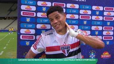 São Paulo vence o Fortaleza em duelo de cinco gols e se consolida no G4 - São Paulo vence o Fortaleza em duelo de cinco gols e se consolida no G4
