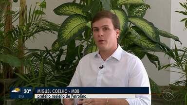Reeleito prefeito, Miguel Coelho fala sobre desafios para o segundo mandato em Petrolina - O atual gestor teve 121.300 votos, o que corresponde a 76,19% dos votos válidos.