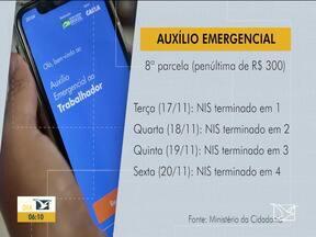 Caixa Econômica inicia pagamento da 8ª parcela do auxílio emergencial de R$ 300 - Até sexta-feira (20), 6,4 milhões de pessoas que pertencem ao Bolsa vão poder sacar a quantia.