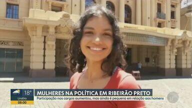 Participação feminina nos cargos aumentou, mas ainda é pequena na Câmara de Ribeirão Preto - Desde de 2005 Ribeirão Preto (SP) não tinha três mulheres na Câmara de Vereadores. Neste ano, Glaucia Berenice, Duda Hidalgo e Judete Zilli foram eleitas na cidade.