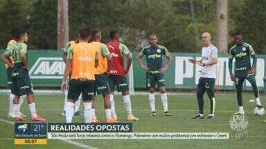 Volante Tche Tche está recuperado da Covid-19 e pode ser escalado pelo Palmeiras - O time joga nesta quarta-feira (18) contra o Ceará, em Fortaleza, mas sofre com surto da doença no elenco.