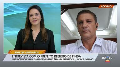 Isael Domingues fala das propostas nas áreas de transportes, saúde e emprego em Pinda - Confira as propostas.