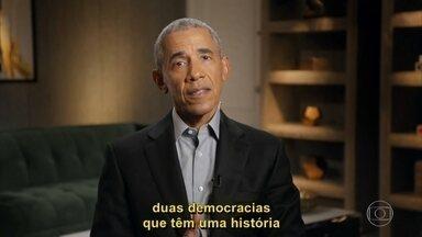 Barack Obama relembra visita à Cidade de Deus - Ex-presidente dos Estados Unidos foi o entrevistado no 'Conversa com Bial' de segunda-feira, 16/11