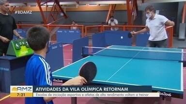 Atividades da Vila Olímpica retornam em Manaus - Escolas de iniciação esportiva voltam a receber atletas.