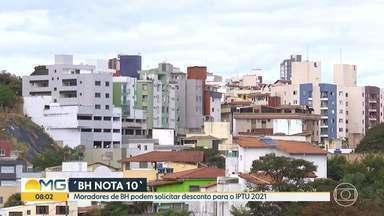Programa ´BH NOTA 10` dá desconto no IPTU para moradores da capital - Contribuintes de BH podem ter desconto de até 30% no IPTU ao solicitar CPF na Nota Fiscal