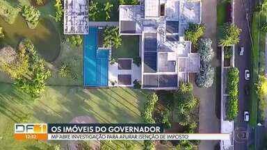 MP investiga isenção de imposto a imóveis do governador Ibaneis Rocha - Segundo promotores, a transação entre Ibaneis e ex-mulher pode exigir pagamento de ITBI, mas a Secretaria de Economia suspendeu a cobrança do imposto.