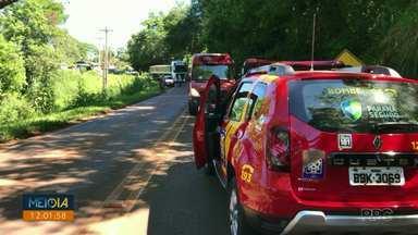 Mulher morre em acidente de trânsito na PR-562, em Coronel Vivida - O acidente foi hoje de manhã.