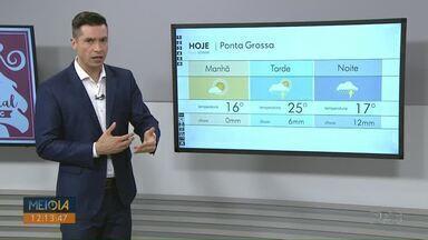 Veja como fica a previsão do tempo para os Campos Gerais nesta terça-feira (17) - Temperaturas devem cair e há chance de chuva.