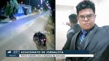 Polícia tenta identificar homens que atiram em jornalista à queima roupa - Polícia tenta identificar homens que atiram em jornalista à queima roupa.