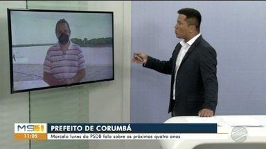 Prefeito reeleito em Corumbá fala ao vivo no MS1 - Marcelo Lunes se posiciona sobre investigação da PF e caso de nepotismo da prefeitura