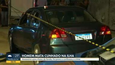 Polícia encontra corpo de homem perfurado por chave de fenda na Ilha do Governador - Policiais do 17º BPM (Ilha do Governador) prenderam Evandro Félix de Lima, na tarde de terça-feira (17), na Ilha do Governador. Ele confessou ter matado o cunhado Videon dos Santos, com golpes de uma chave de fenda. O crime aconteceu dentro de um carro, na Estrada do Dendê