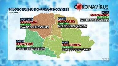 Paraná registra mais 30 mortes por coronavírus - Foram confirmados 2.324 novos casos da doença no estado.